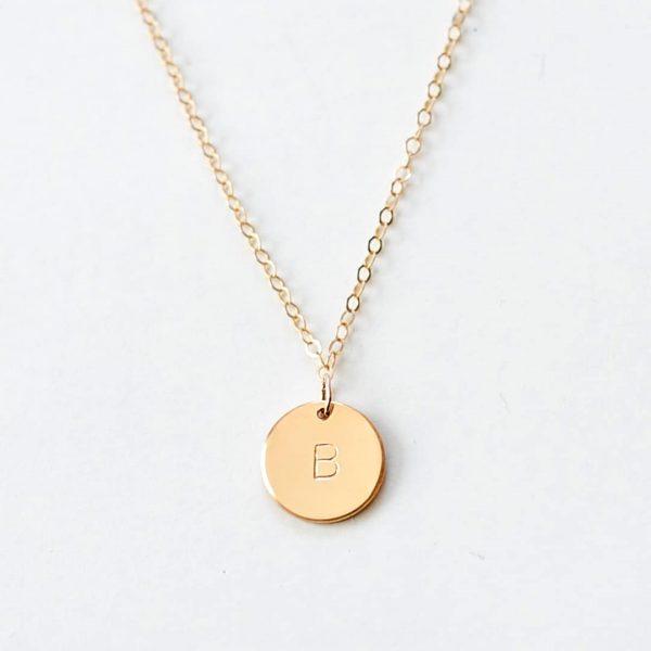Circle Basic egyedi gravírozott nyaklánc arany